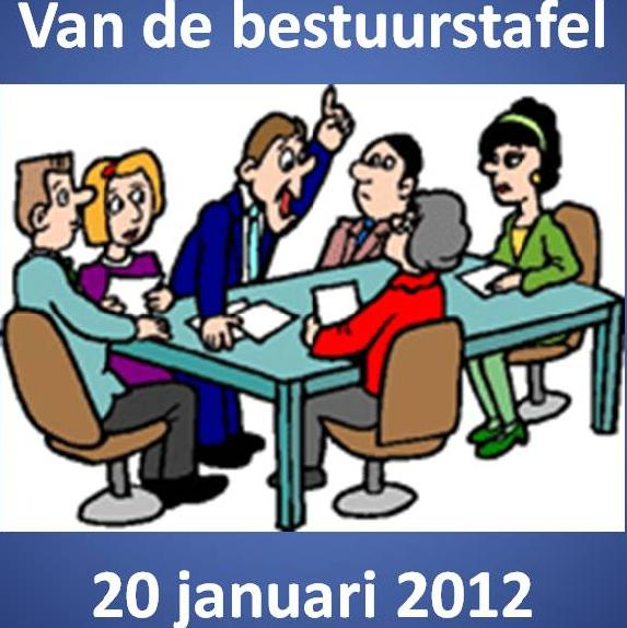 bestuurs tafel 20 jan 13